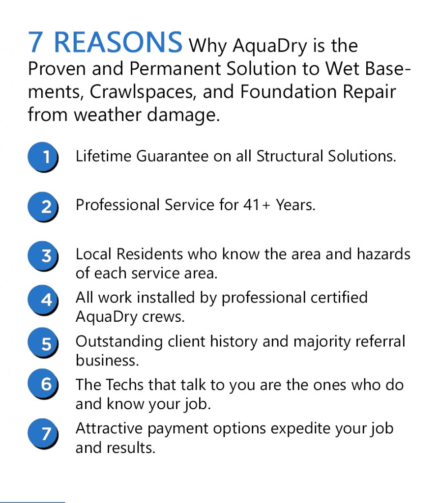 7-reasons-893x1024 Pouring Rain, Flooded Basement. Avoid this expense with an in-home consult!